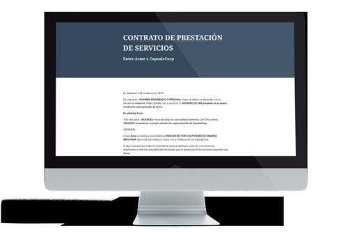 Plantilla de contrato de subcontratación de servicios